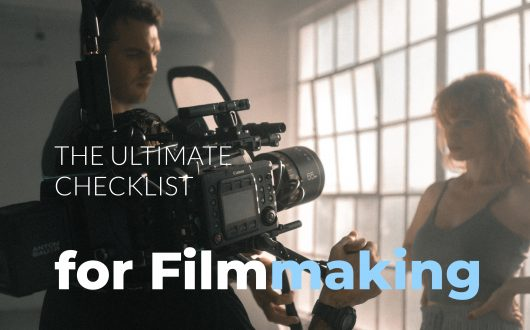 The ultimate checklist for filmmaking - camerman shoots actress