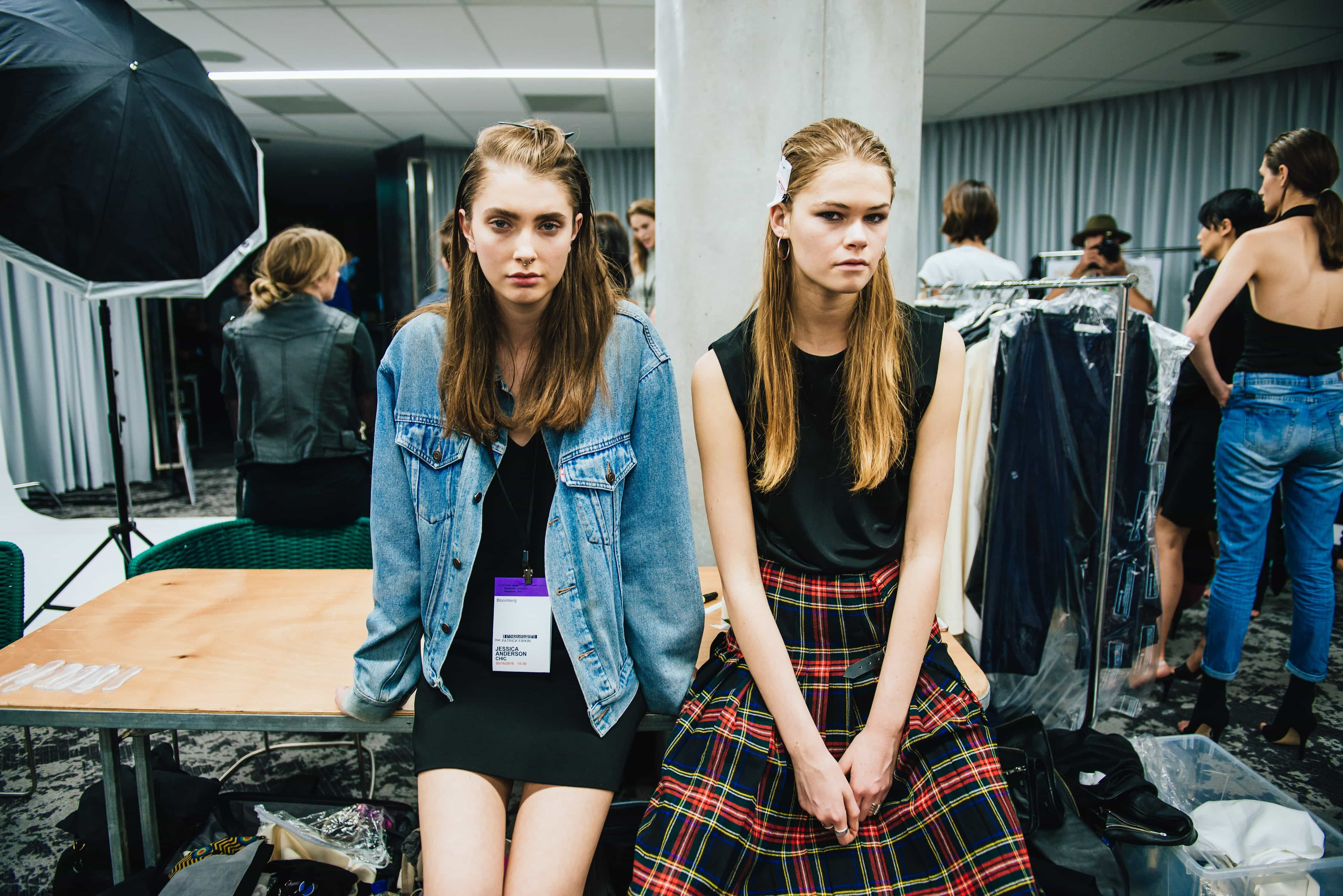 Facebook Live Best Practices - An image of two females backstage at a fashion show