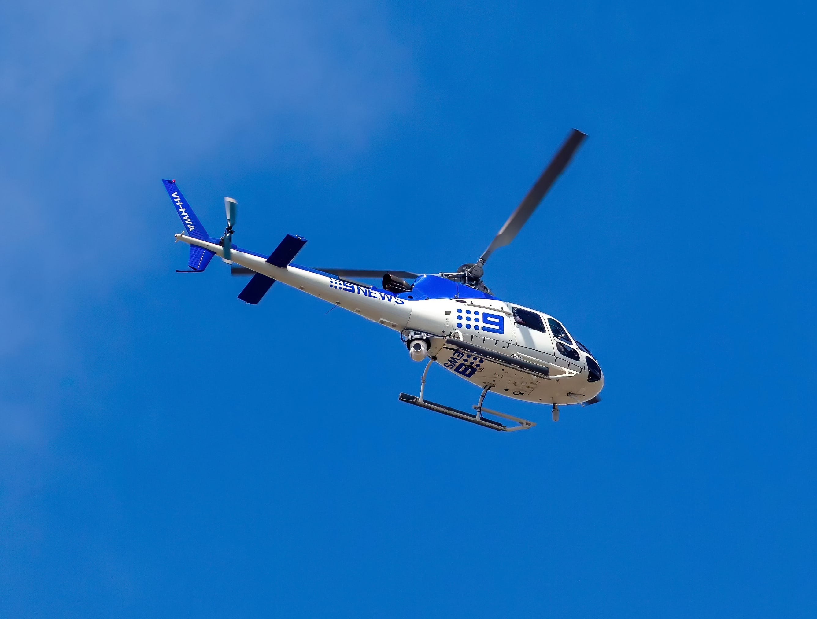 Facebook Live Best Practices - An image of a news helicopter