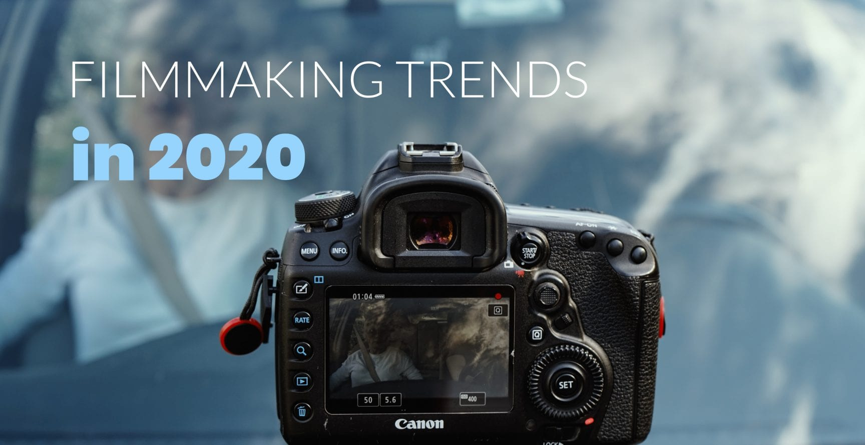 Filmmaking Trends in 2020 - Camera mounted on car windshield