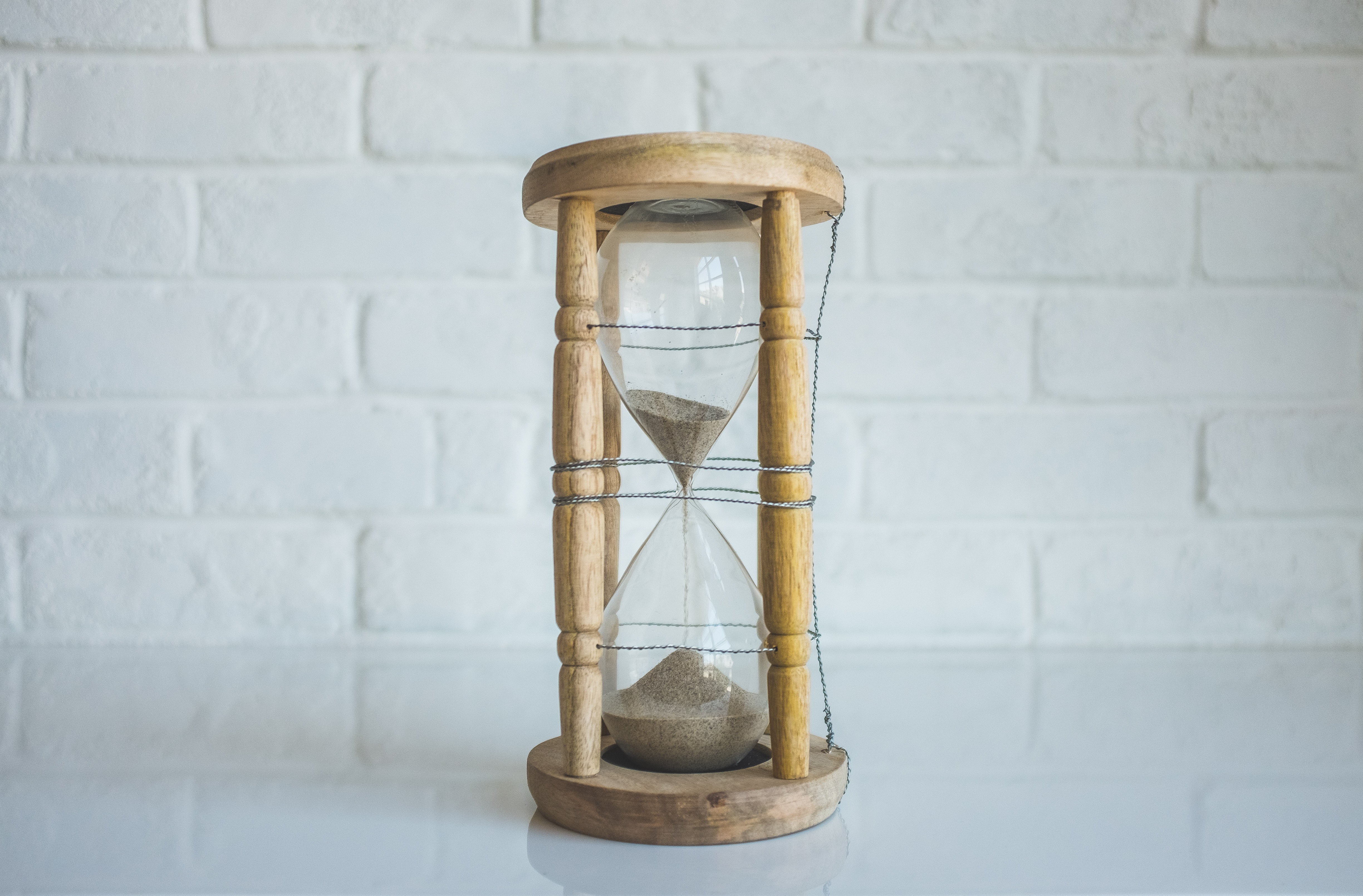 What to look for in a Voiceover Artist - An image of an hourglass