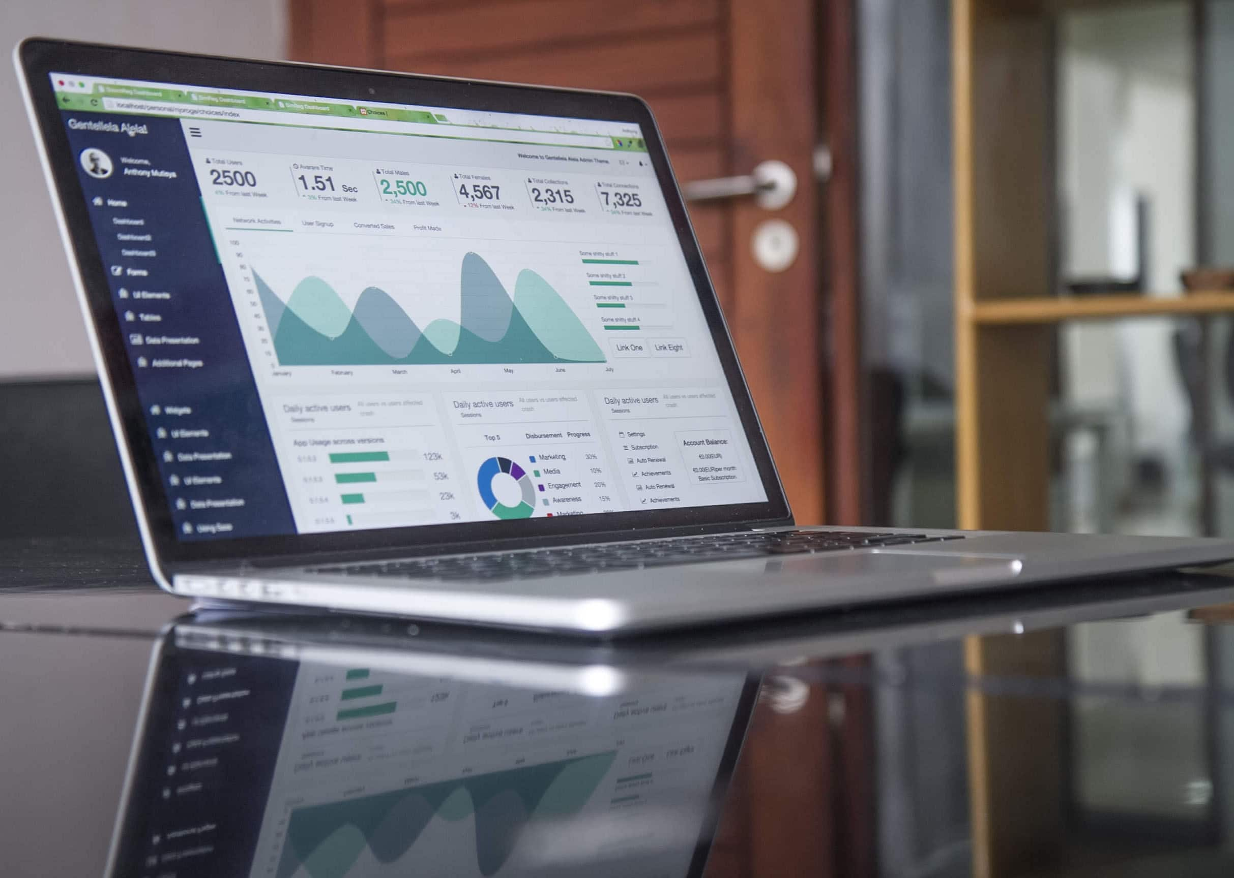 How to prepare a professional video resume - An image of a graph on a laptop