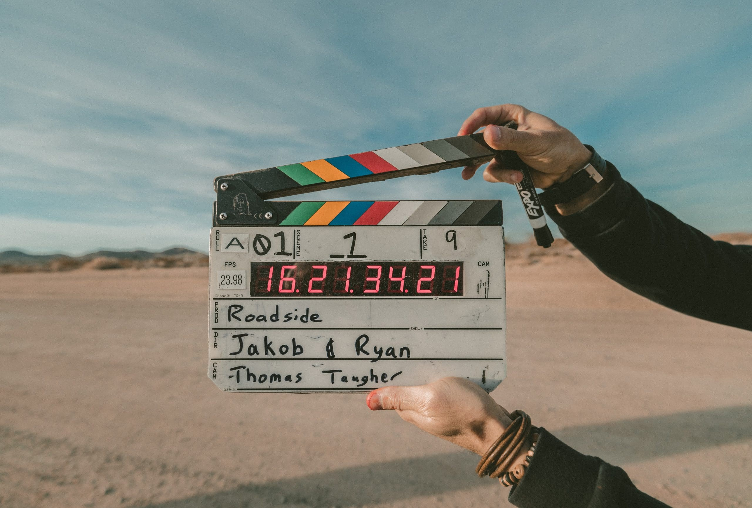 How to prepare a professional video resume - An image of a film scene