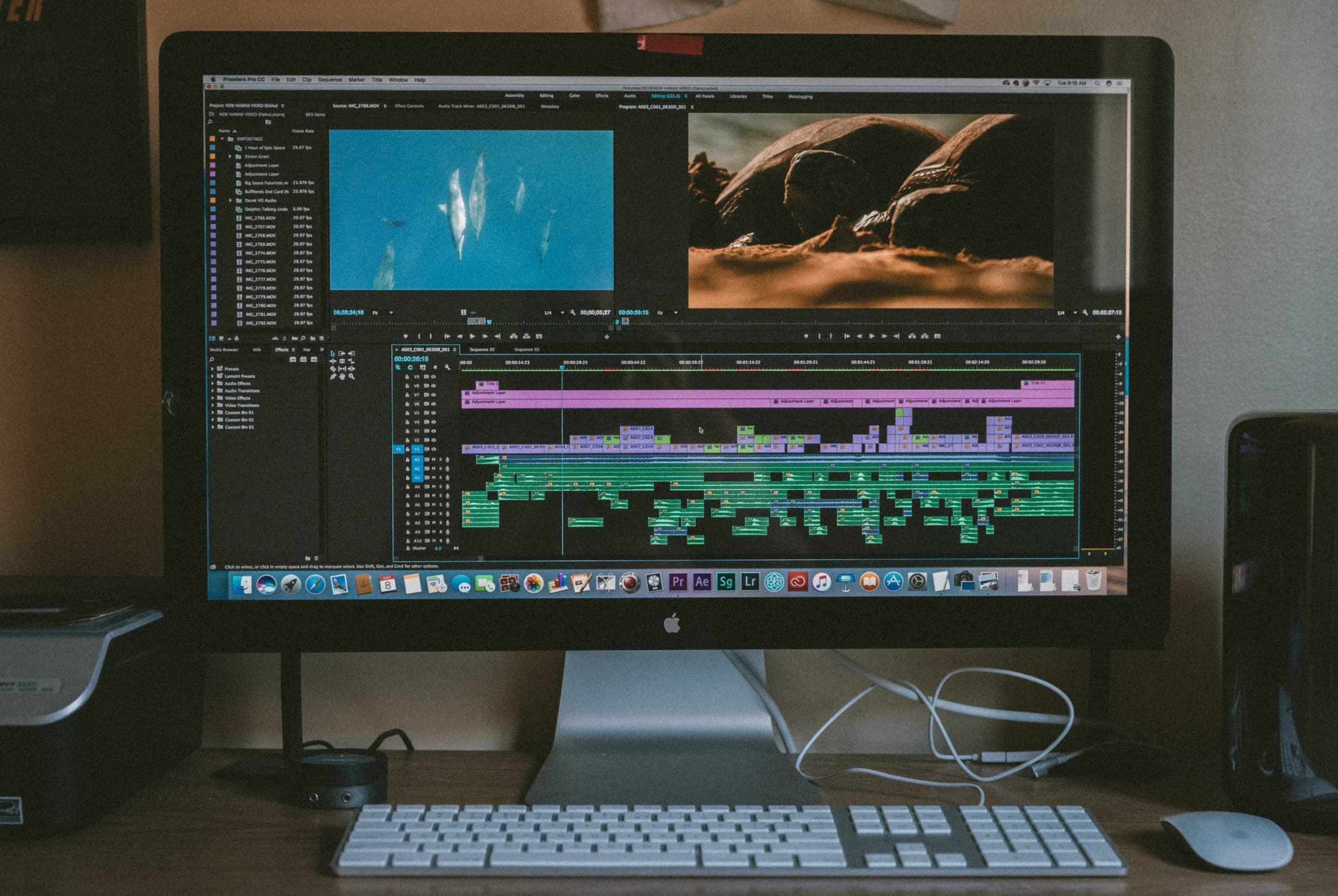 How to prepare a professional video resume - An image of a Mac computer
