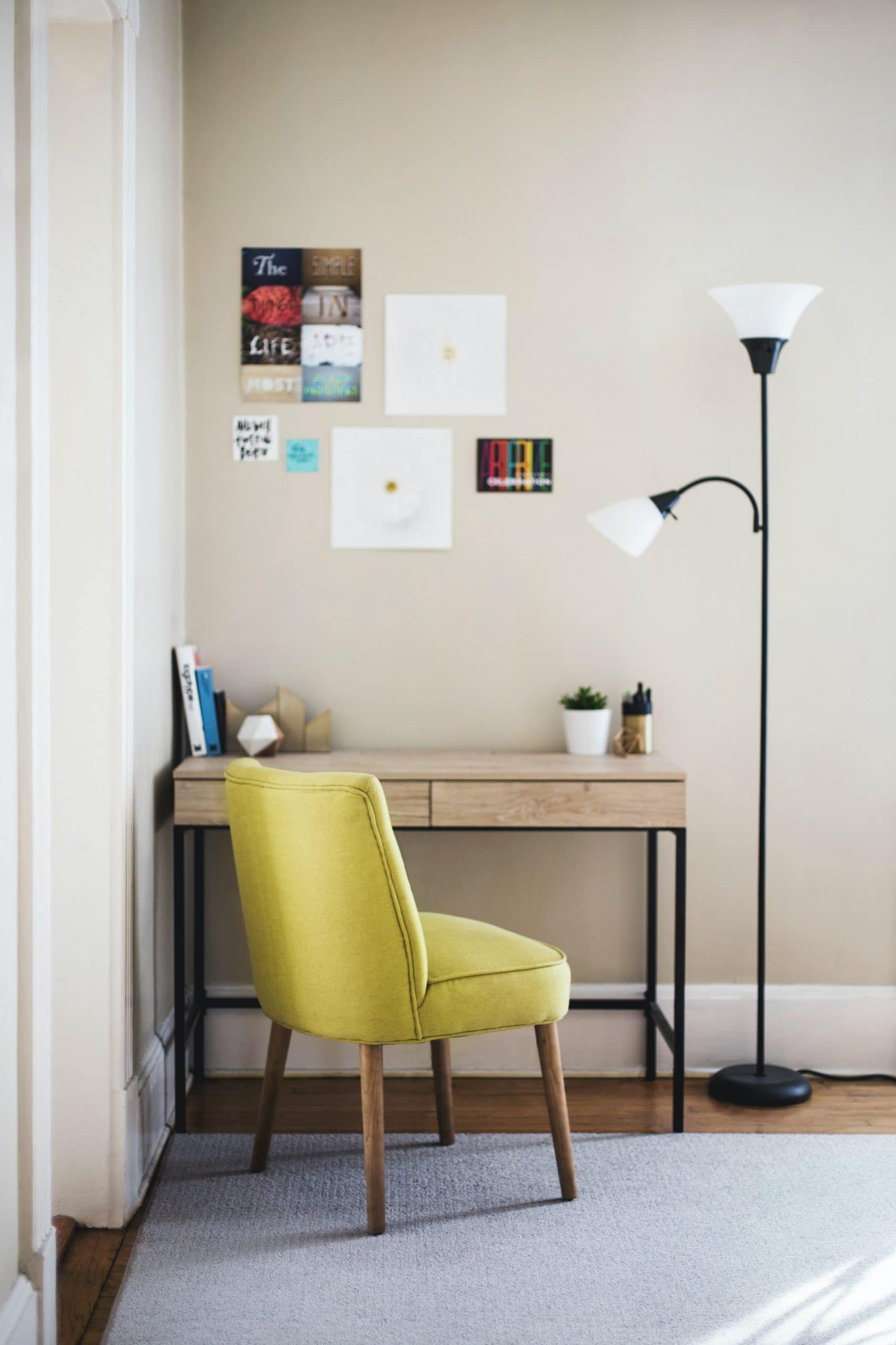 How to prepare a professional video resume - An image is a household desk