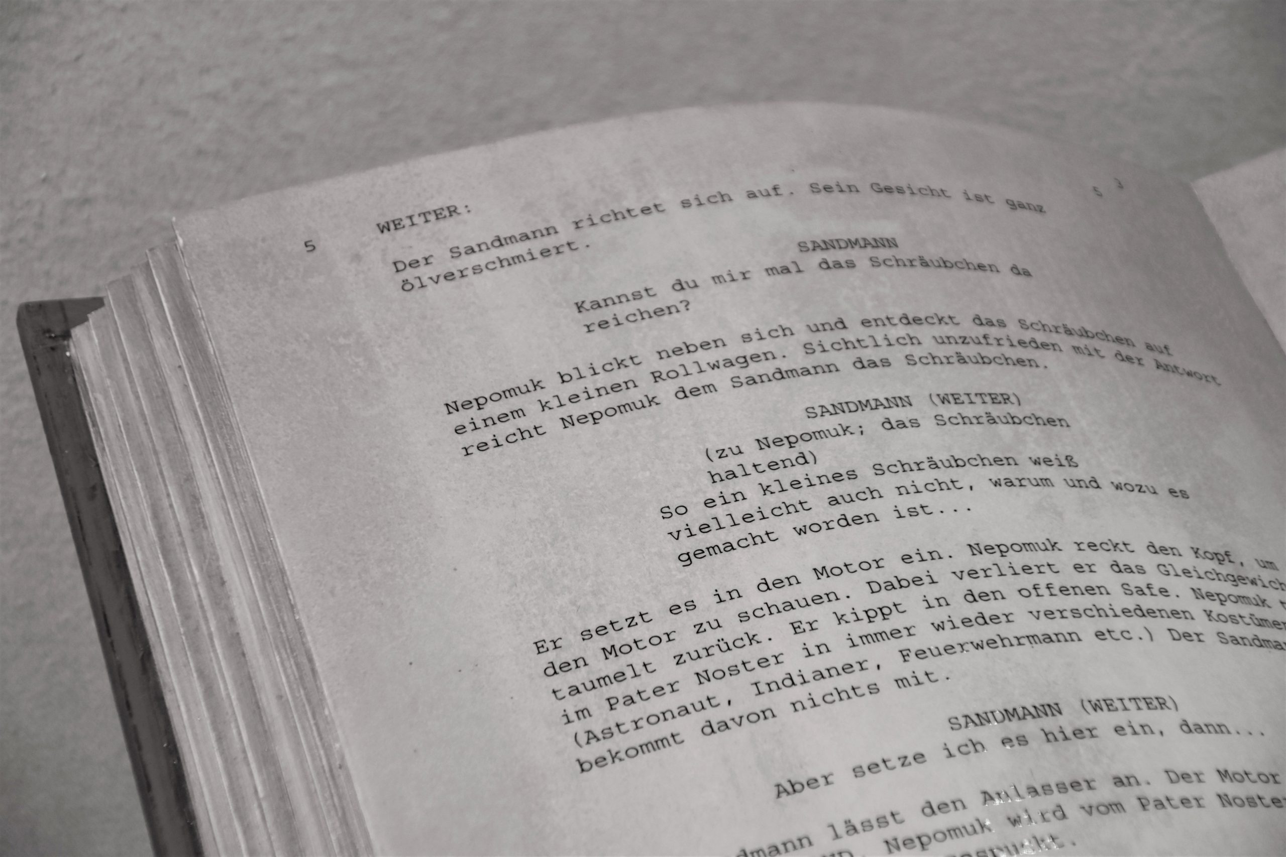 How to prepare a professional video resume - An image of a film script