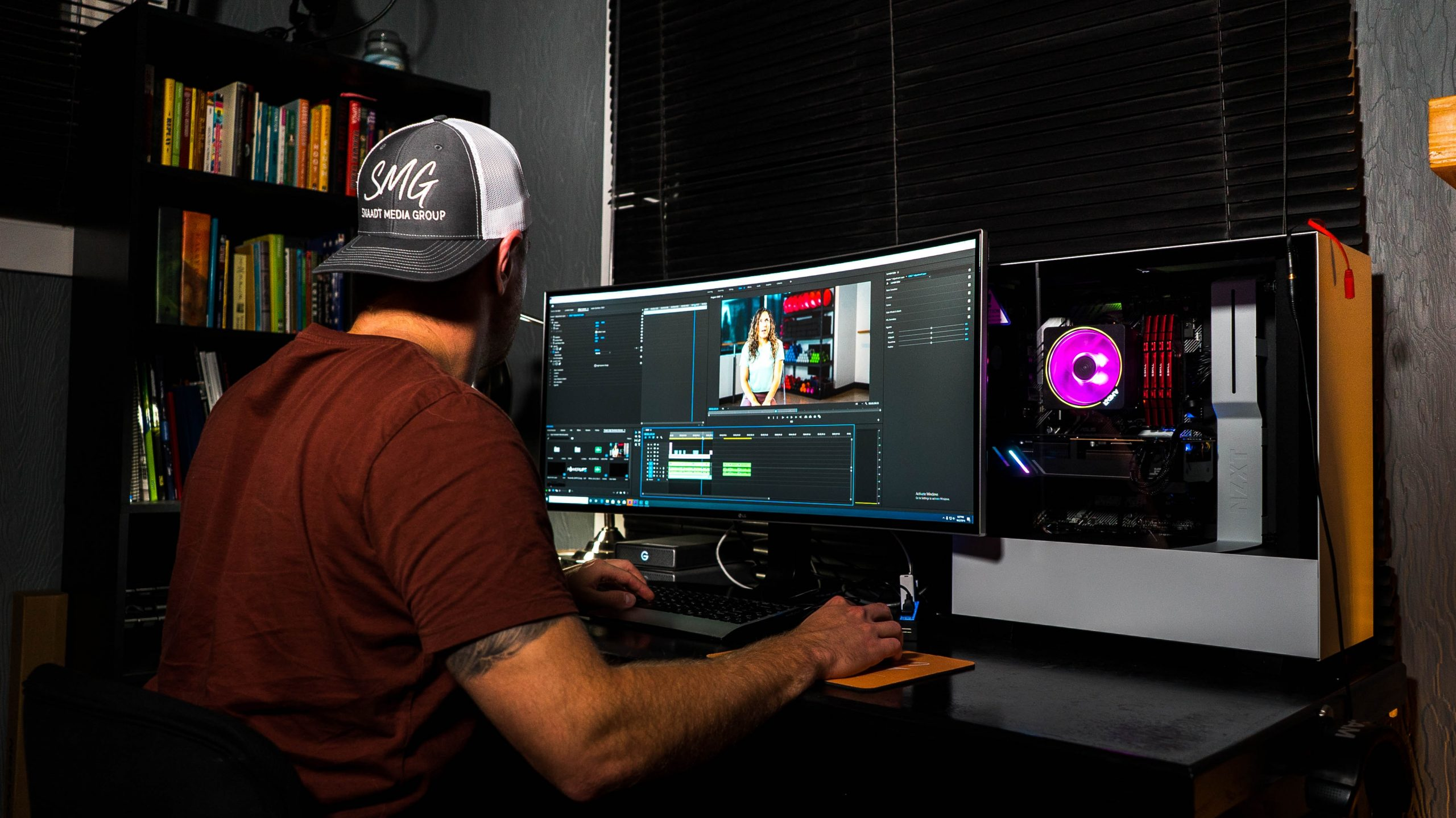 The Best Filmmaking Blogs in 2021 - An image of a video editor working